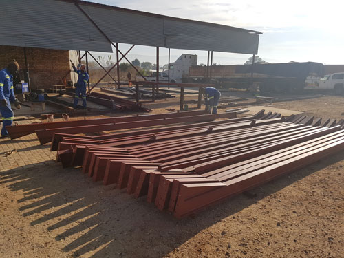 Structural steel used in construction