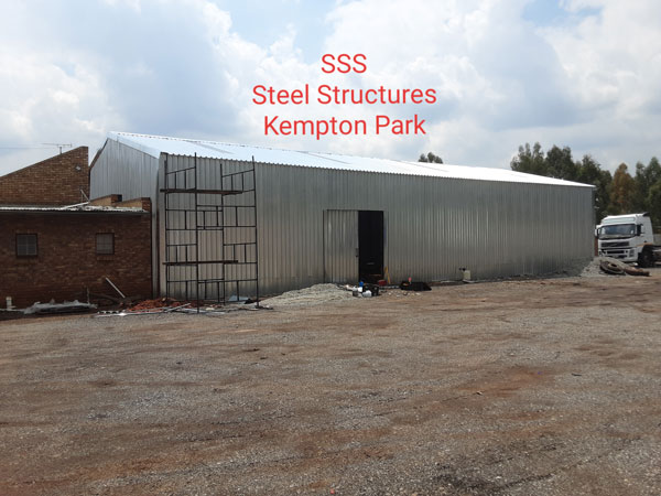 Structural steel warehouse in Kempton Park
