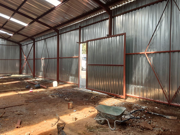 Structural steel factory under construction