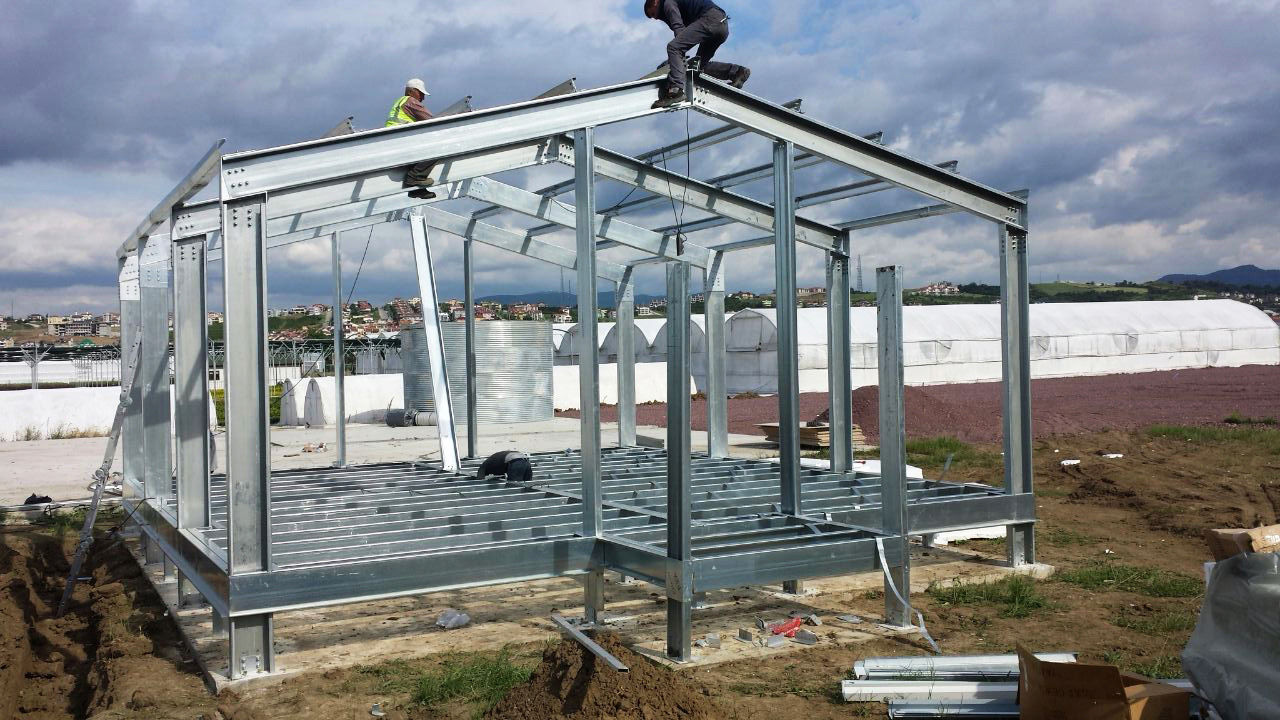 Structural steel construction of warehouse