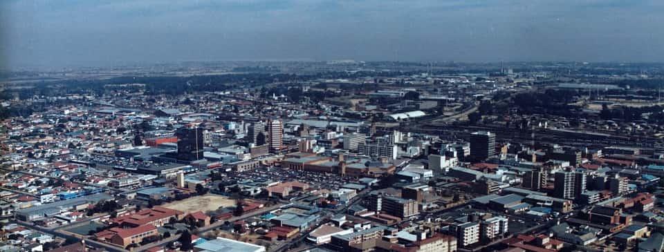 Springs in Gauteng aerial view